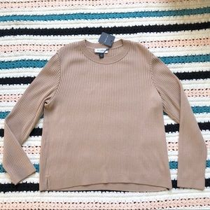 St. John Collection Crew Rib Knit Wool Bl Sweater